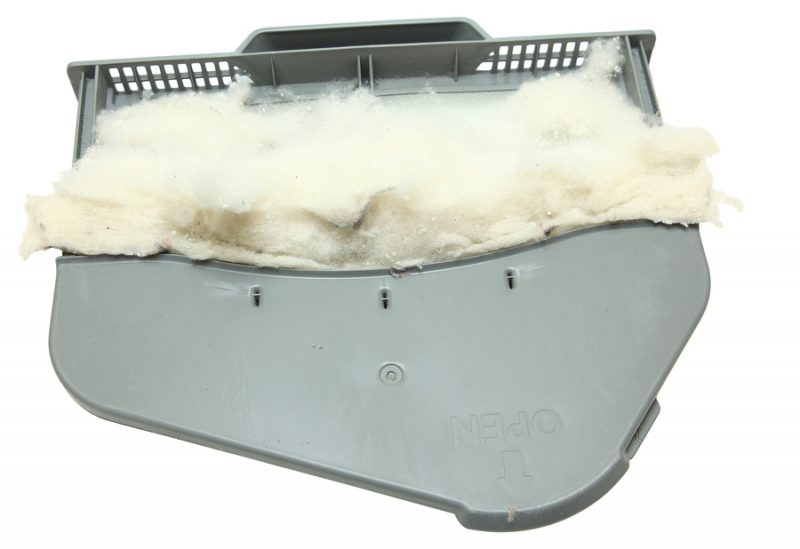 Santa Barbara Asko Repair - Full Lint Trap Isolated Over White