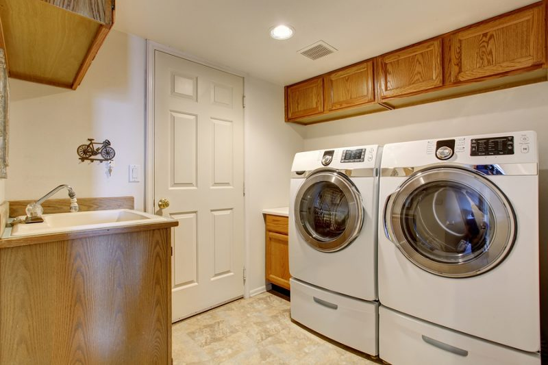 Las Vegas Asko appliance - Modern laundry room with washer and a dryer.