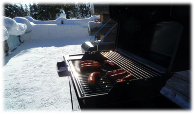 grilling during winter