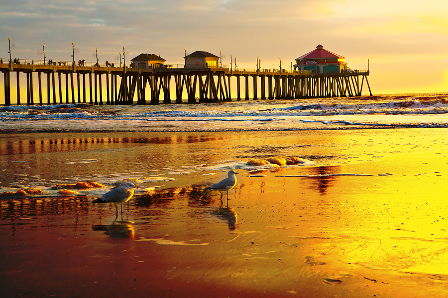 Sunset Over Huntington Beach Pier
