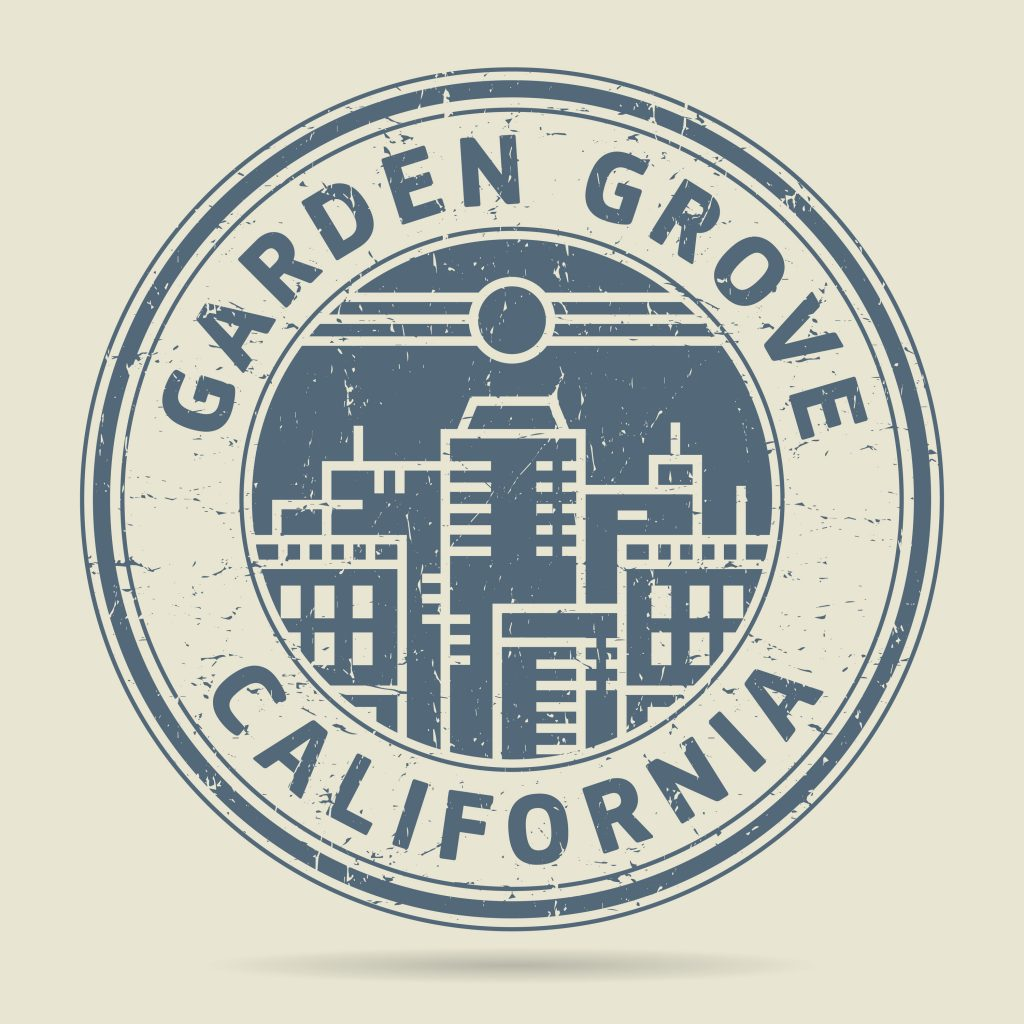 garden grove rubber stamp