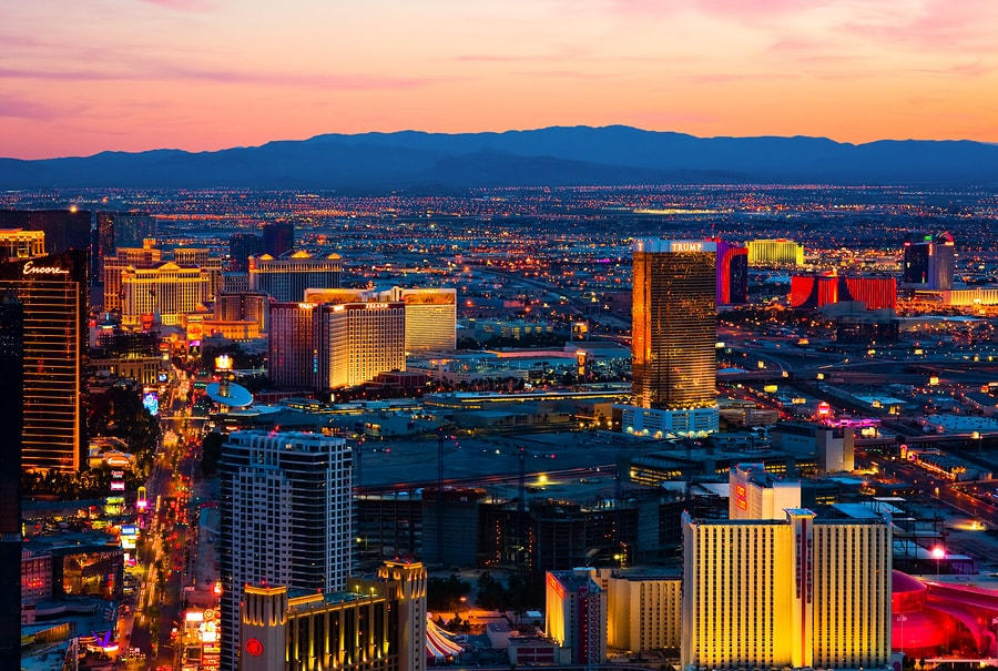 Las Vegas at sunset
