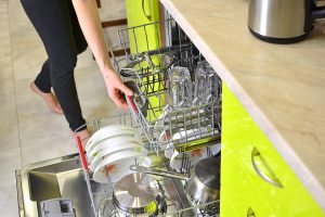 using the dishwasher