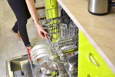 using the dishwasher