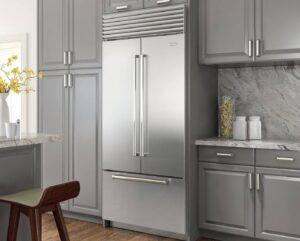 sub-zero-refrigerator-in-grey-kitchen