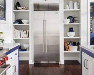 sub-zero-refrigerator-blue-white-kitchen